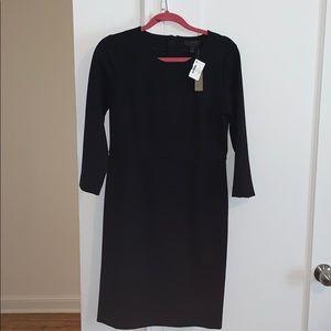 J. Crew Ponte Knit Black Dress